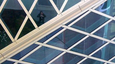 Self-portrait at Rem Koolhaas's Seattle Public Library building